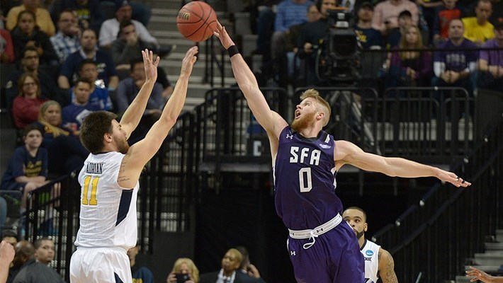 Stephen F. Austin Shocks West Virginia in NCAA First Round